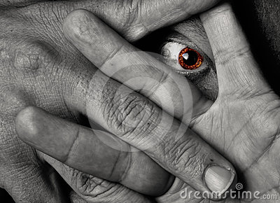 Target3151_0_ throug kolor żółty oko palce