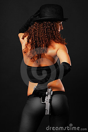 Target448_0_ tylni seksownego widok gangsterski pistolecik