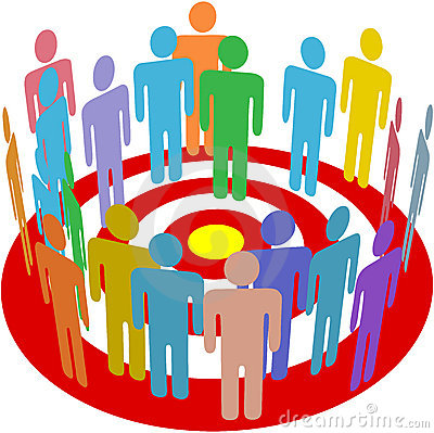Targeted marketing people group on target