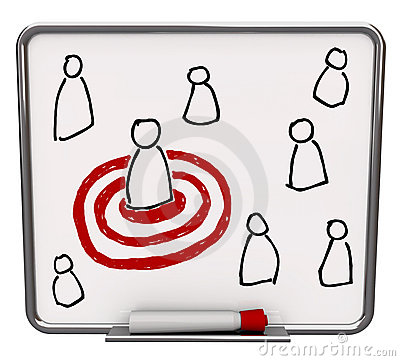 Free Targeted Person - Dry Erase Board With Red Marker Royalty Free Stock Photo - 16343785