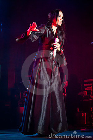 Tarja Turunen Performing Live at Aula Magna Editorial Stock Image