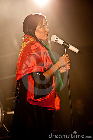 Tarja Turunen Performing Live at Aula Magna Editorial Image