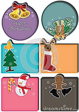 Tarjeta de carácter de la Navidad Set_eps