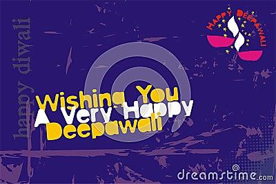 Tarjeta de felicitación de Diwali - de moda