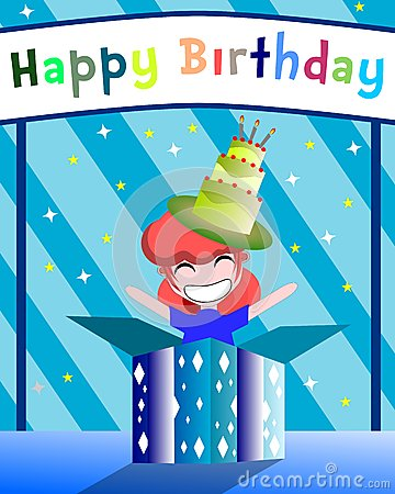 Tarjeta de felicitación del cumpleaños