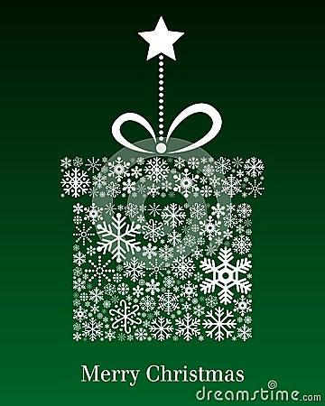 Tarjeta de felicitación del regalo de la Navidad