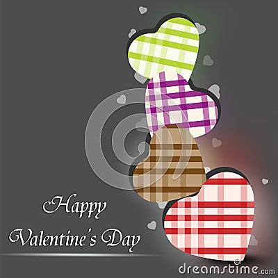 Tarjeta de felicitación feliz del día de tarjetas del día de San Valentín,