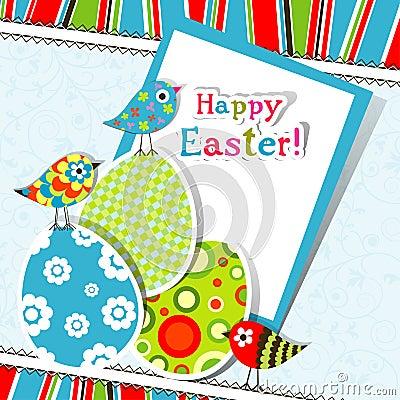 Tarjeta de felicitación de Pascua del modelo