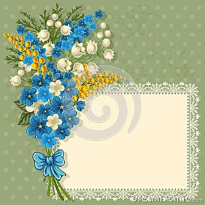 Tarjeta de felicitación linda