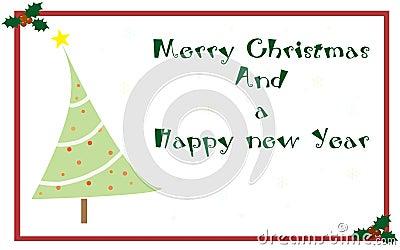 Tarjeta de felicitaciones de la Navidad