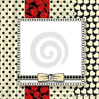 Tarjeta de la celebración de la tarjeta del día de San Valentín