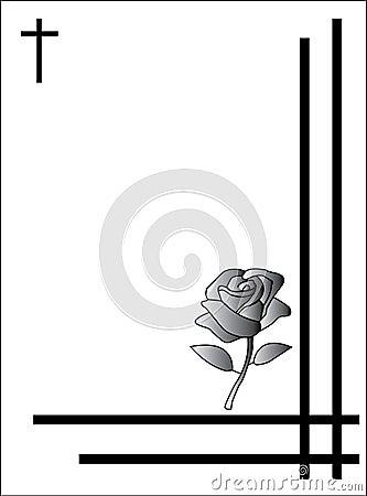 Tarjeta de la condolencia
