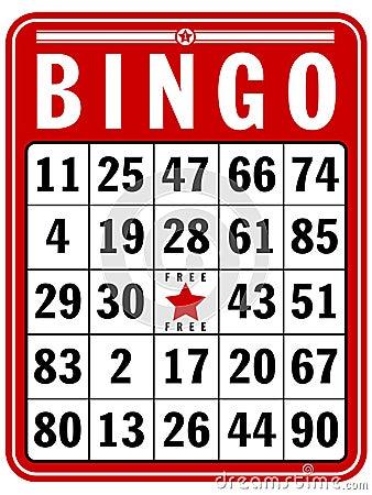 Tarjeta de la cuenta del bingo
