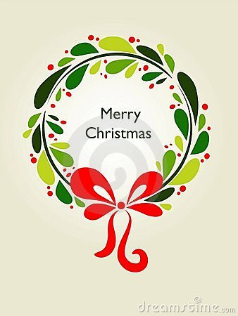 Tarjeta de la guirnalda de la Navidad - 1
