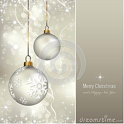 Tarjeta de Navidad elegante