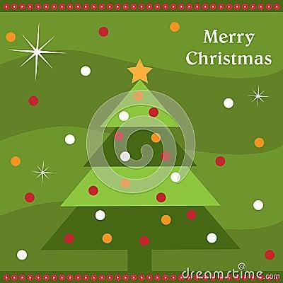 Tarjeta del árbol de navidad