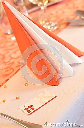 Tarjeta del lugar de la boda