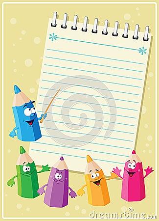 Tarjeta divertida de los lápices