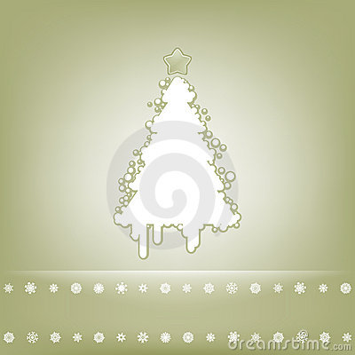 Tarjeta elegante con el árbol de navidad. EPS 8