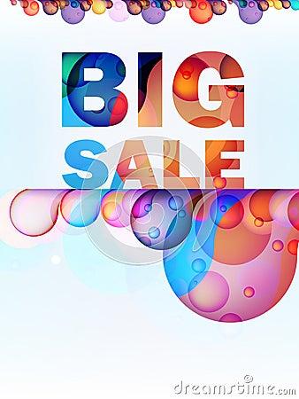 Tarjeta grande de la venta del chapoteo abstracto. + EPS10