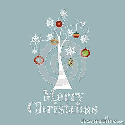 Tarjeta mínima del árbol de navidad