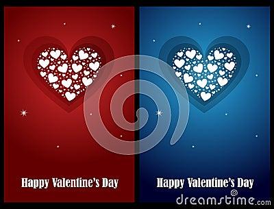 Tarjetas de la tarjeta del día de San Valentín