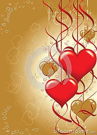 Tarjetas del día de San Valentín fondo, vector