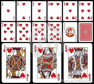 Tarjetas que juegan clásicas - corazones