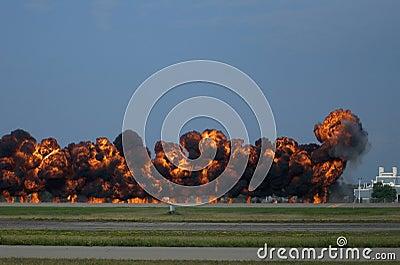 Tarmac Pyrotechnics at Oshkosh Airshow