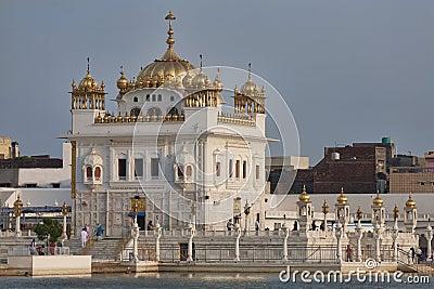 Tarn Taran Sikh temple at sunset