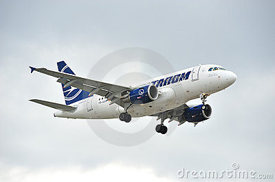 Tarom Airbus A318 Editorial Stock Photo