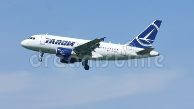 TAROM Airbus A318-100 YR-ASC almacen de video