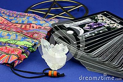 Tarot Cards and Bag