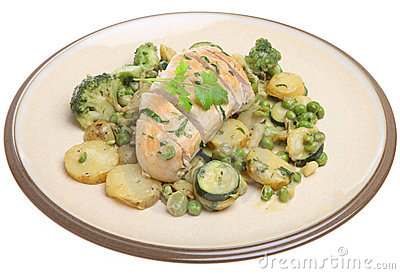 Tarragon Chicken Breast with Vegetables