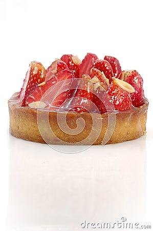 Tarta de la fresa y de la almendra