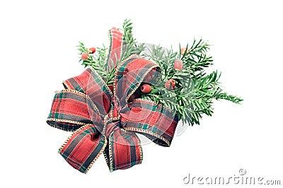 Tartan christmas ribbon