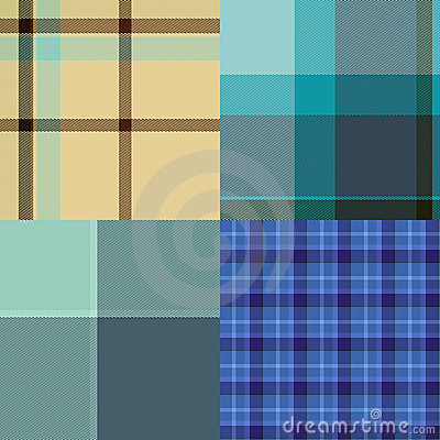 Tartan Cloth Collection of Seamless Patterns