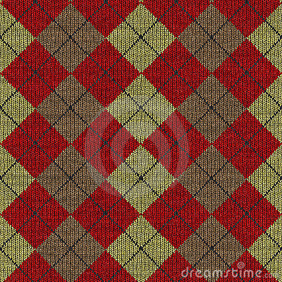 Tartan knitwork pattern