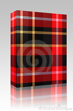 Tartan plaid texture box package