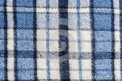 Tartan plaid wool fabric