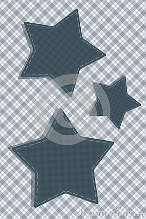 Tartan stylized Stars