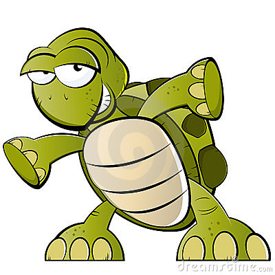 Tartaruga dos desenhos animados