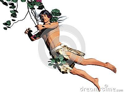 Tarzan isolated
