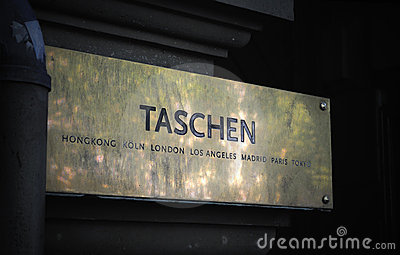 TASCHEN art book publisher sign entrance Editorial Stock Photo