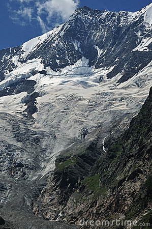 Taschhorn From Saas Fee Stock Image - Image: 5964721