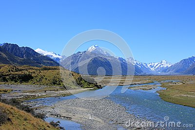 Tasman river, Mt Cook