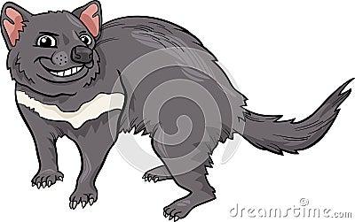 Tasmanian devil cartoon illustration