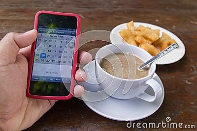 Tasse de café dans le matin