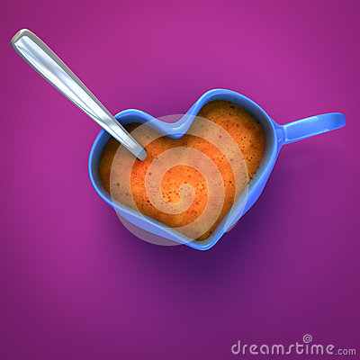 Tasse de café en forme de coeur