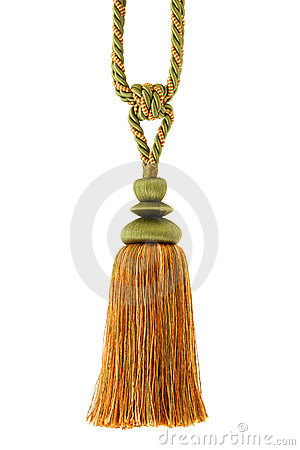 Tassel , curtain cord, isolated